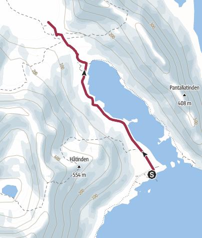 Map / Hike to Bunes beach, Lofoten
