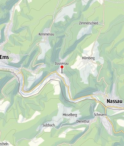 Map / Schiefer Turm von Dausenau