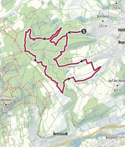 Karte / Traumschleife Bach- und Burrenpfad