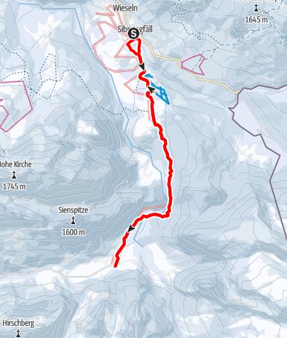 Carte / En route pour le plus joli hameau de refuges – Sibratsgfäll-Schönenbach