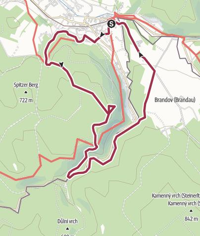 Karte / Anwandern am Kammweg 2020 Tour 2: Auf dem alten Vereinssteig des Erzgebigszweigvereins