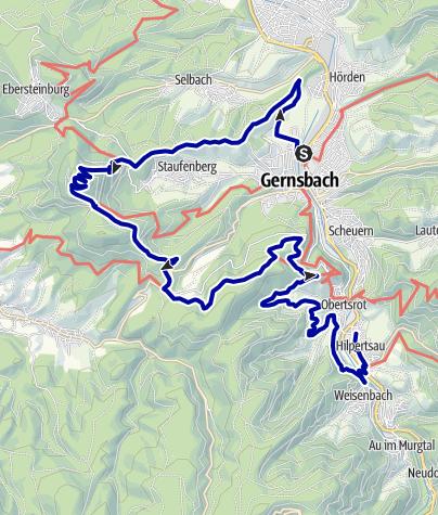 Map / Gernsbacher Runde 1: Westlicher Teil