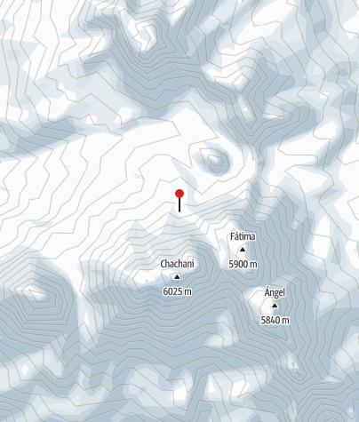 Karte / Acampamiento base de Chachani