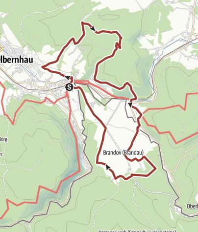 Karte / Anwandern am Kammweg 2020 Tour 3: Auf den Spuren des Bergbaus