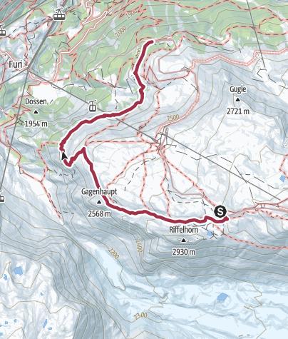Karte / Im Angesicht des Matterhorns von Rotenboden auf die Riffelalp