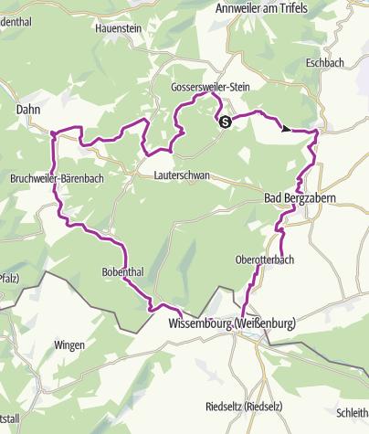 Karte / Vis á Vis Tour