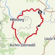 Karte / Tour 1: Odenwaldtour