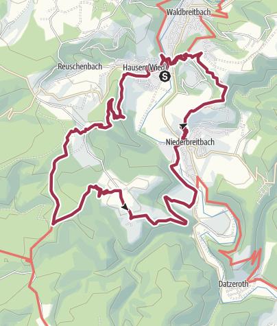 "Karte / WesterwaldSteig-Erlebnisschleife ""Wiedtaler Höhenpfad"""