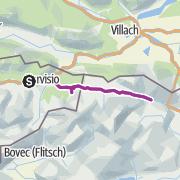Hartă / Handbike-Tour Tarvisio - Kranjska Gora (barrierefrei)