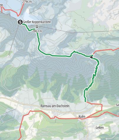 Map / Ramsauer Klettersteig