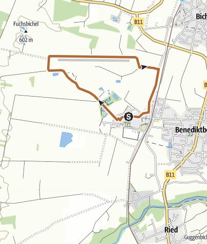 Karte / Moosrundweg 3 zum Segelflugplatz