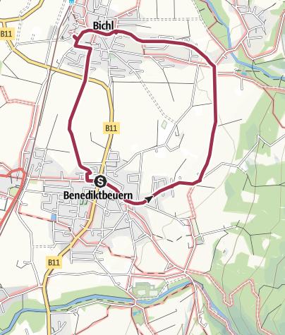 Karte / Rundweg 9 nach Bichl