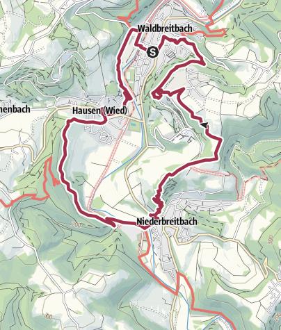 """Karte / WesterwaldSteig-Erlebnisschleife """"Wiedblick-Tour"""""""