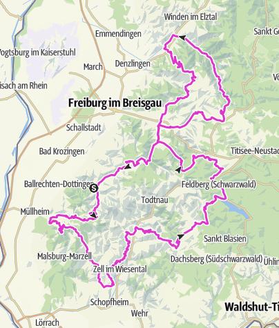 Map / Schwarzwald Super! Rennradmarathon 2019 / Gold
