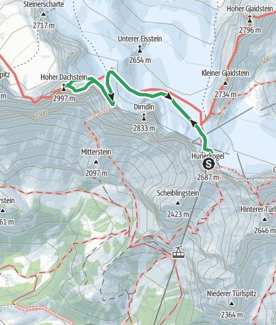 Map / Hoher Dachstein Randkluft und Schulter