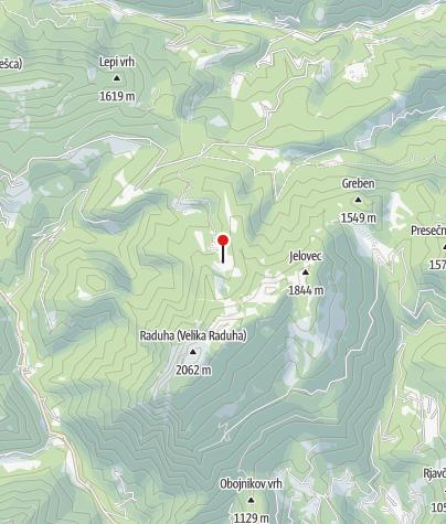 Karte / der Westteil der V. Raduha - Nordansicht