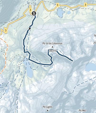 Karte / Piz da las Coluonnas 2960 m ü.M.