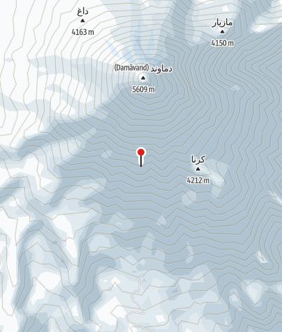 Karte / Bargah Sevom (Damavand Camp 3)
