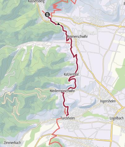 Map Of Kaysersberg France.Kaysersberg To Turckheim Hiking Trail Outdooractive Com