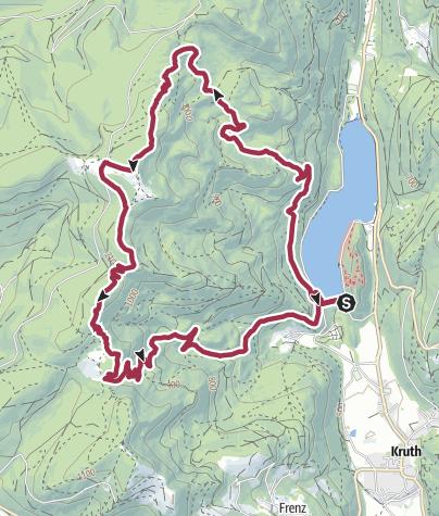 Carte / Lac de Kruth-Wildenstein - Cascade du Bockloch - Grand-Ventron
