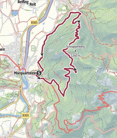 מפה / Schnappenkirche, 1100 m