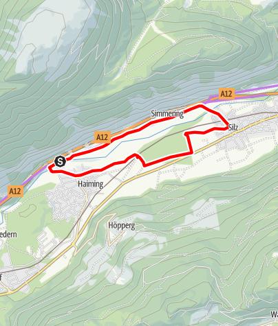 Karte / Familien Radtour Haiming Apfelmeile