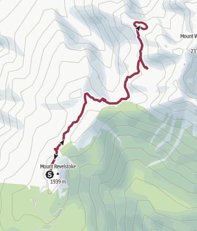 Map / Eva and Jade Lakes Trail at Mount Revelstoke