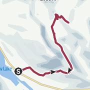 Map / Helen Lake Trail in Lake Louise