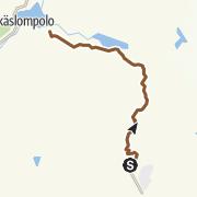 Map / Ylläsjärvi-Äkäslompolo mountain biking trail
