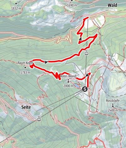 Karte / Hochoetz - Talwanderung nach Ochsengarten