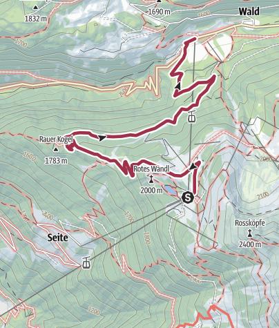 Map / Hochoetz down to Ochsengarten