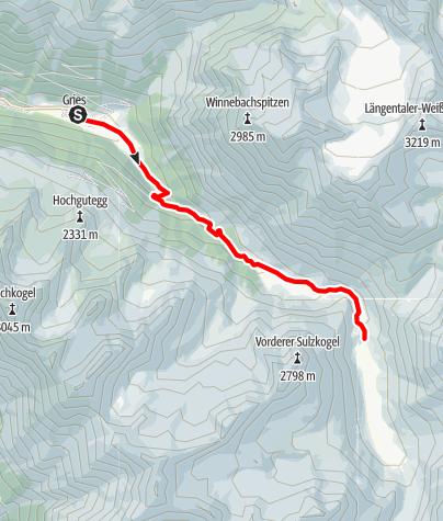 Karte / Gries - Sulztalalm - Amberger Hütte