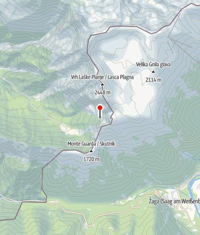 Karte / Biwak unter der Baba Grande