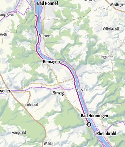 Kaart / Erlebnisradeln am Romantischen Rhein