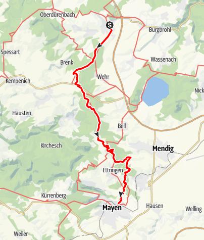 Karte / Vulkanweg (13) – 2. Etappe