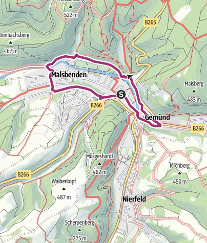 Karte / Nordeifel: Stadtspaziergang Gemünd (15)