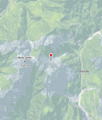 Karte / Blick vom Rif. Grauzaria zum C. della Sfinge