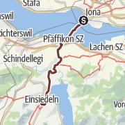 מפה / Von Rapperswil über den Etzelpass nach Einsiedeln