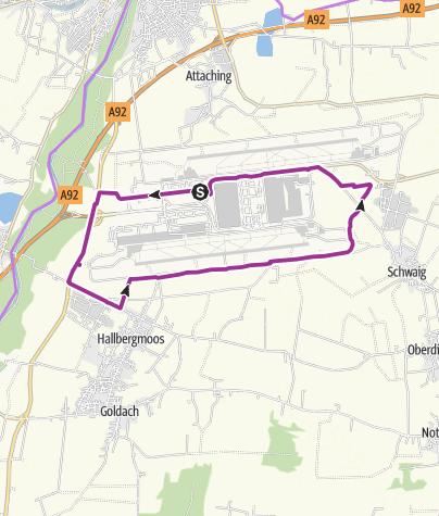地图 / Umwelt-Radweg Flughafen München