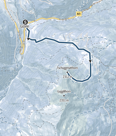 Map / Skitour ab Gabi auf das Tschuggmatthorn (2310 m.ü.M.)