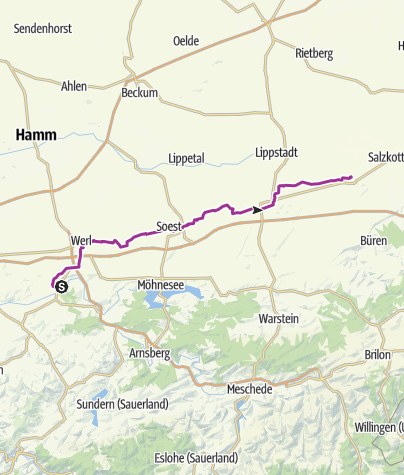 Karte / Zabel-Fernroute