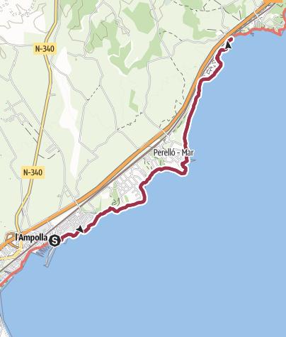 Map / Strandwanderung bei L'Ampolla