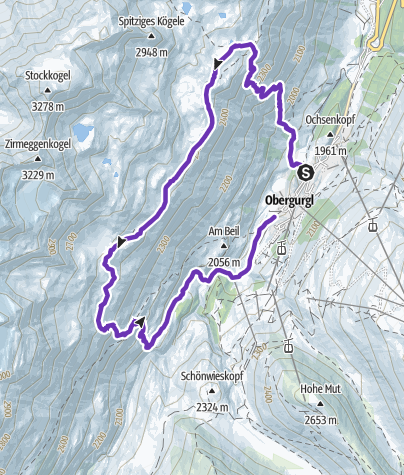 Karte / Archäologischer Rundwanderweg Obergurgl