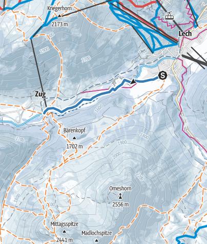 Karte / Von Omesberg nach Zug