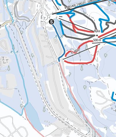 Map / Ruka village First Snow Lit Ski Trail 1 km, Ruka Ski Resort, Kuusamo