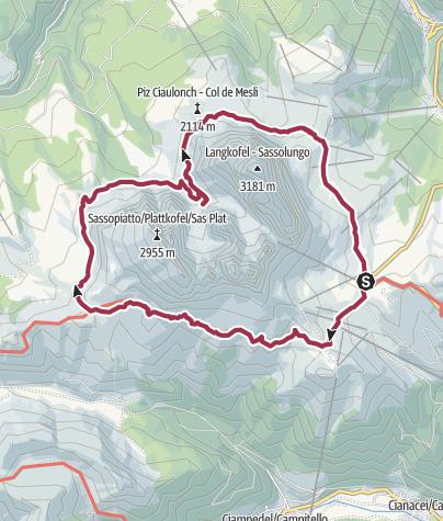Karte / Rund um die Langkofelgruppe