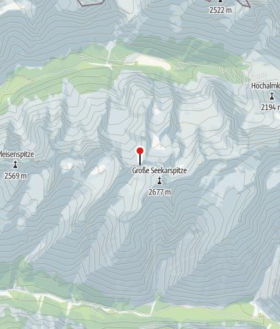 Karte / Biwak Breitgrießkarscharte