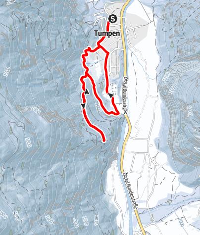 Karte / Tumpen - Talblick - Umhausen-Niederthai