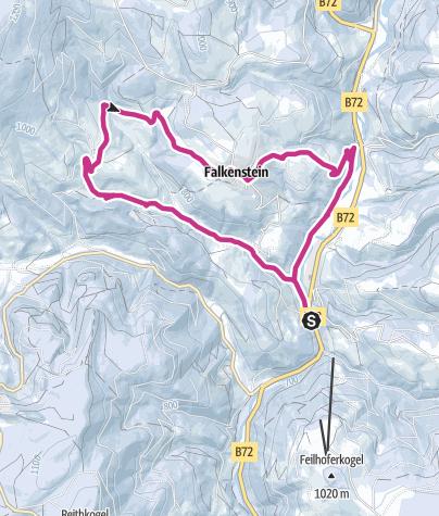 Karte / Vom Feistritztal nach Falkenstein im  Winter
