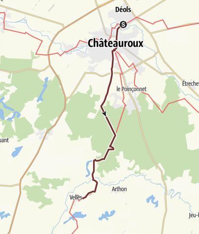 Karte / Via Lemovicensis: Déols - Velles